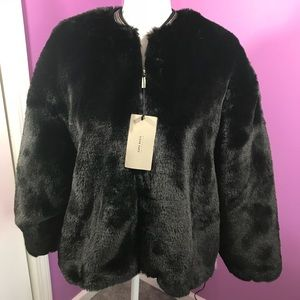 Zara Basic Faux Fur Jacket